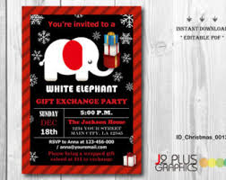 white elephant party etsy