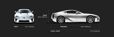lexus lfa supercar technical specifications lexus com