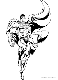 superman color coloring pages kids cartoon characters