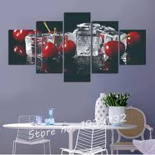 online shop 5 panels grapes and cherry painting canvas wall art