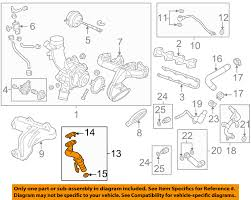 nissan versa engine diagram gm oem turbocharger turbo oil inlet tube 55587854 ebay