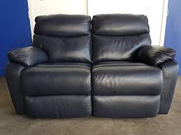 2 Seater Leather Recliner Sofa by Dark Blue Leather Reclining Sofa 2 Seater Recliner Settee Equipped
