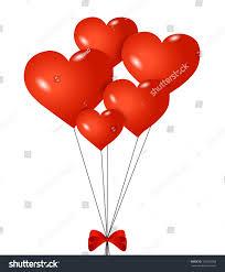 heart shaped balloons heartshaped balloons ribbon isolated stock vector 155929358