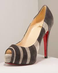 christian louboutin outlet shoes peep toe sling back pumps