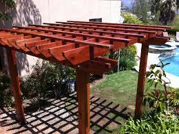 pergola design magnificent attached wood pergola kits cost to