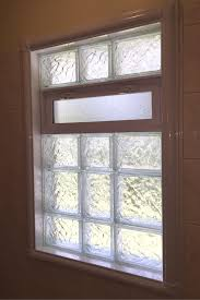 wonder how to finish the inside of a glass block bathroom window