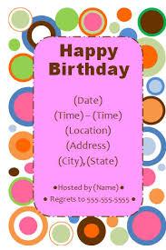 birthday invite template orionjurinform com