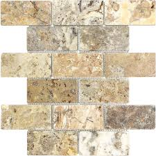 Stone Wall Tiles For Kitchen Shop Anatolia Tile Scabos Tumbled Tumbled Natural Stone Mosaic