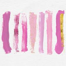 pink make up brush strokes pink paint brush stains u0026
