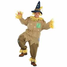 Mens Size Halloween Costumes Wizard Oz Scarecrow Fancy Dress Costume Mens Gents