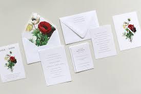 simple botanical wedding invitation suite tied u0026 two