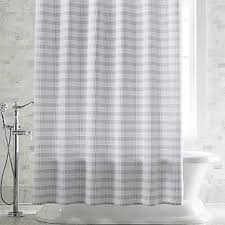 White Shower Curtains Fabric Fabric Shower Curtains Crate And Barrel