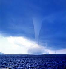 stunning scene of four waterspouts off greece coast is captured in
