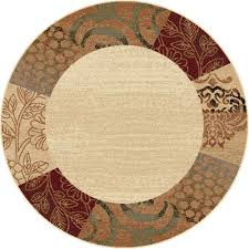 10 Round Rugs by Tayse Area Rugs Elegance Rug 5202 Ivory Transitional Rugs