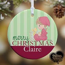personalized baby christmas ornament personalized baby s christmas ornaments precious moments