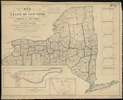 New York State Counties Map by Map Of The State Of New York Exhibiting The Several Towns And