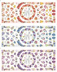 57 styles new 2013 series japanese style water decal nail art