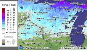 Snow Depth Map Wisconsin Skis Wisconsin Verbs