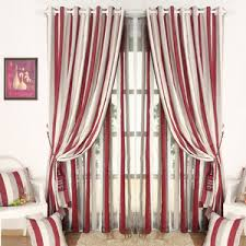 Red And White Striped Curtain Affordable Beige Brown Striped Curtains Blackout
