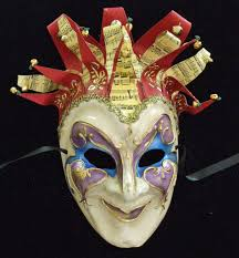jester halloween mask music ribbons bells purple heart u2022 34 50