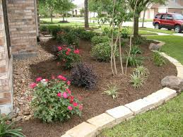 Landscaped Backyard Ideas Flower Bed Landscaping Backyard Ideas Houston Loversiq