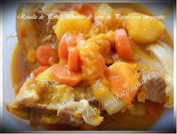 cuisiner rouelle de porc recette rouelle de porc pommes de terre et potimarron en cocotte