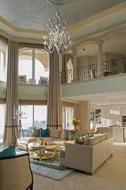 High Ceiling Curtains by Chandelier High Ceiling Bedroom Mediterranean With Beige Couch
