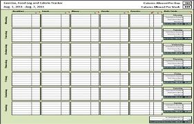 Diet Tracker Spreadsheet 5 Free Food Journal Templates Excel Pdf Formats