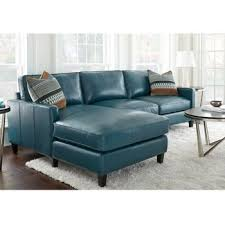 Blue Leather Armchair Costco Andersen Leather Chaise Sectional Peacock 2199 After