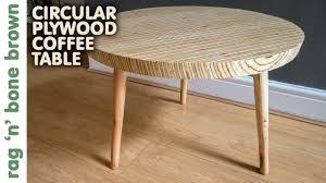 Plywood Coffee Table Circular Plywood Coffee Table