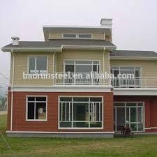 prefabricated steel frame villa simple small villa plans new