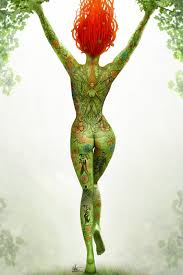poison ivy full body tattoo by nszerdy on deviantart
