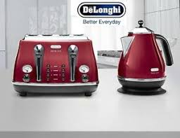 Delonghi Icona 4 Slice Toaster Black Kettle And Toaster Sets Delonghi Icona 4 Slice Toaster And