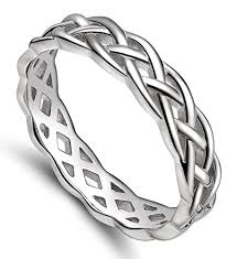 925 sterling silver celtic knot ring woven design