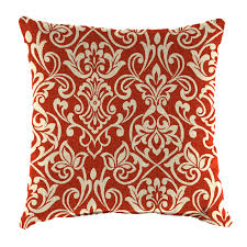 adair crimson square outdoor pillow at home at home