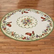 Round Rooster Rug Sonoma Hand Hooked Rooster Round Rugs
