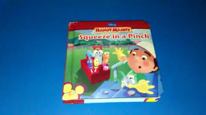 handy manny squeeze pinch disney story book