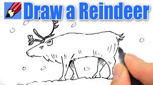 how to draw a reindeer real easy youtube