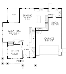 craftsman style house plan 3 beds 2 5 baths 2936 sq ft plan 48