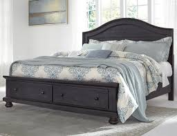 Queen Storage Beds With Drawers Solid Wood Queen Storage Bed With 2 Footboard Drawers By Signature