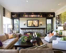 Family Room Design TV Fireplace And Shelving By Sammaynard - Family room shelving