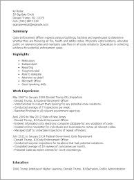 Federal Government Resume Samples by Professional Code Enforcement Officer Templates To Showcase Your