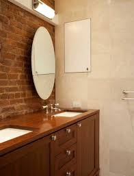 bathroom wall designs incorporating exposed bricks in stylish designs around the house