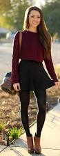 20 style tips on how to wear skater skirts in winter gurl com