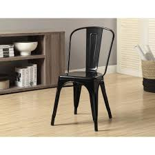 Black Metal Dining Room Chairs Homesullivan Walker White Wood And Metal Low Back Dining Chair