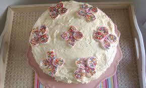 marshmallow flower birthday cake