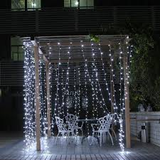 Solar Powered Icicle Lights by Kohree Led Light Curtain Icicle Lights 600led 9 8feet 8modes Cool