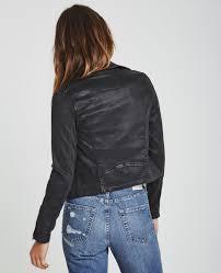 biker jacket the biker jacket in vintage leatherette lt black jackets ag