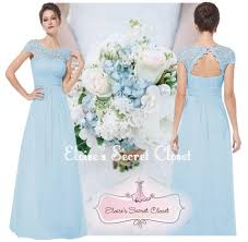 katie baby blue lace full length maxi prom evening bridesmaid