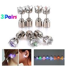changing earrings color changing led earrings gift source one